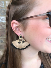 10) Cheetah Fanned Double Fringe Earring