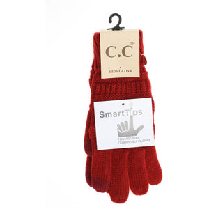 Kid's C.C Gloves- Red