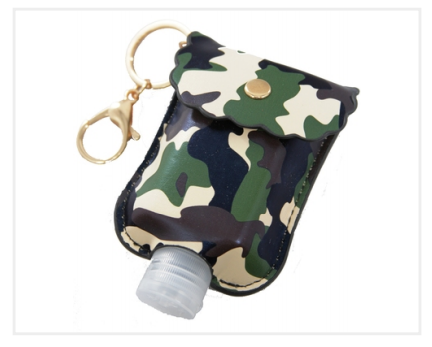 Bottle & Holder Keychain- Camo