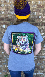 Mike the Tiger - Heather Gray SIZE SMALL