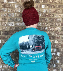 Raised Up Down Home Long Sleeve- Jade
