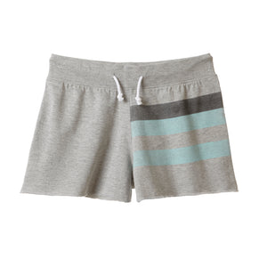 Striped Lounge Short- Heather Gray