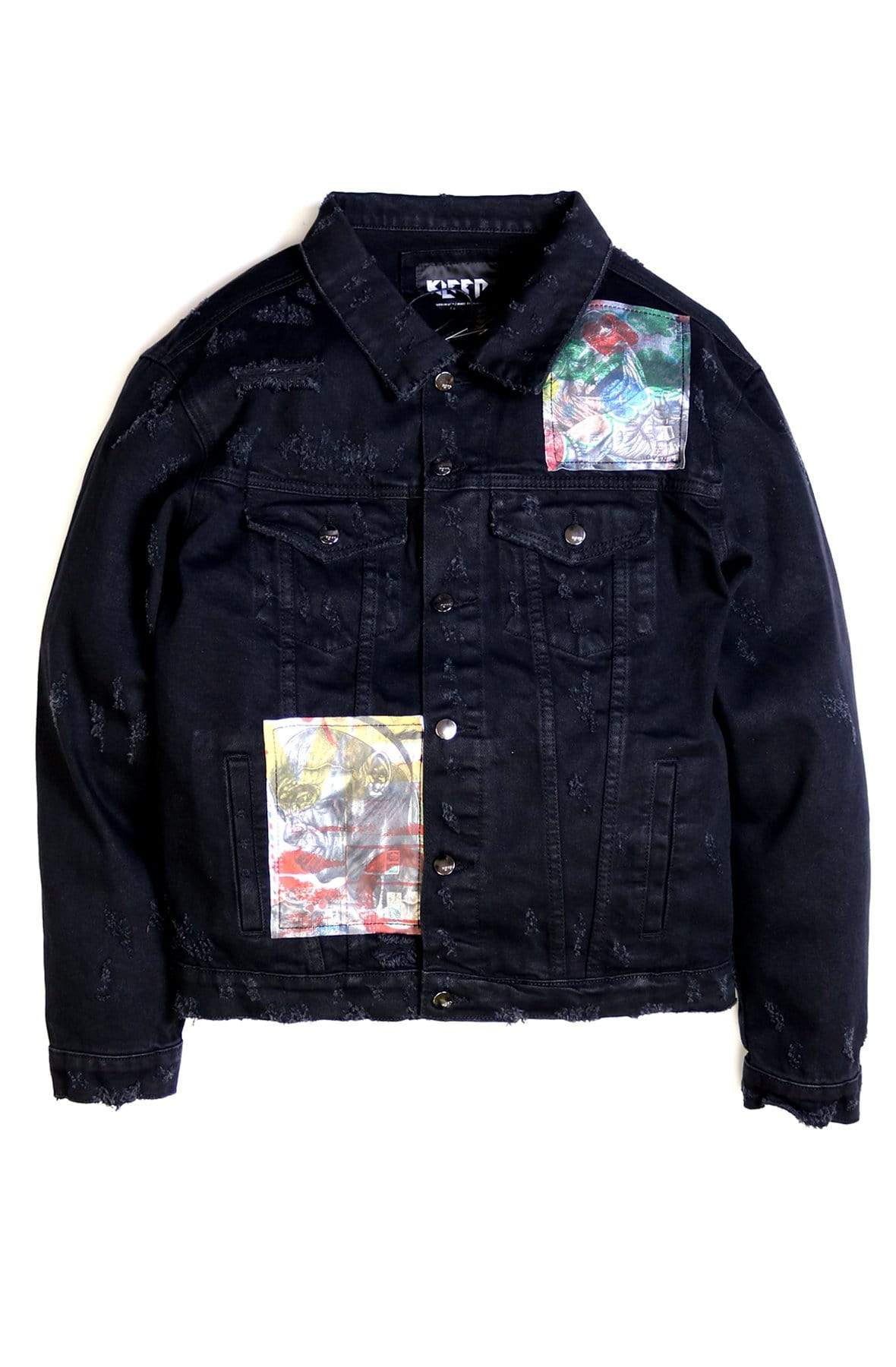 KLEEP Men's Jacket NOIRE Washed Denim Jacket