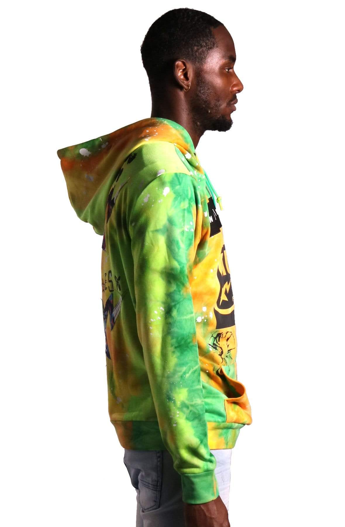KLEEP Men's Sweatshirt Jungle Men's Premium Tie dye Pullover Hoodie