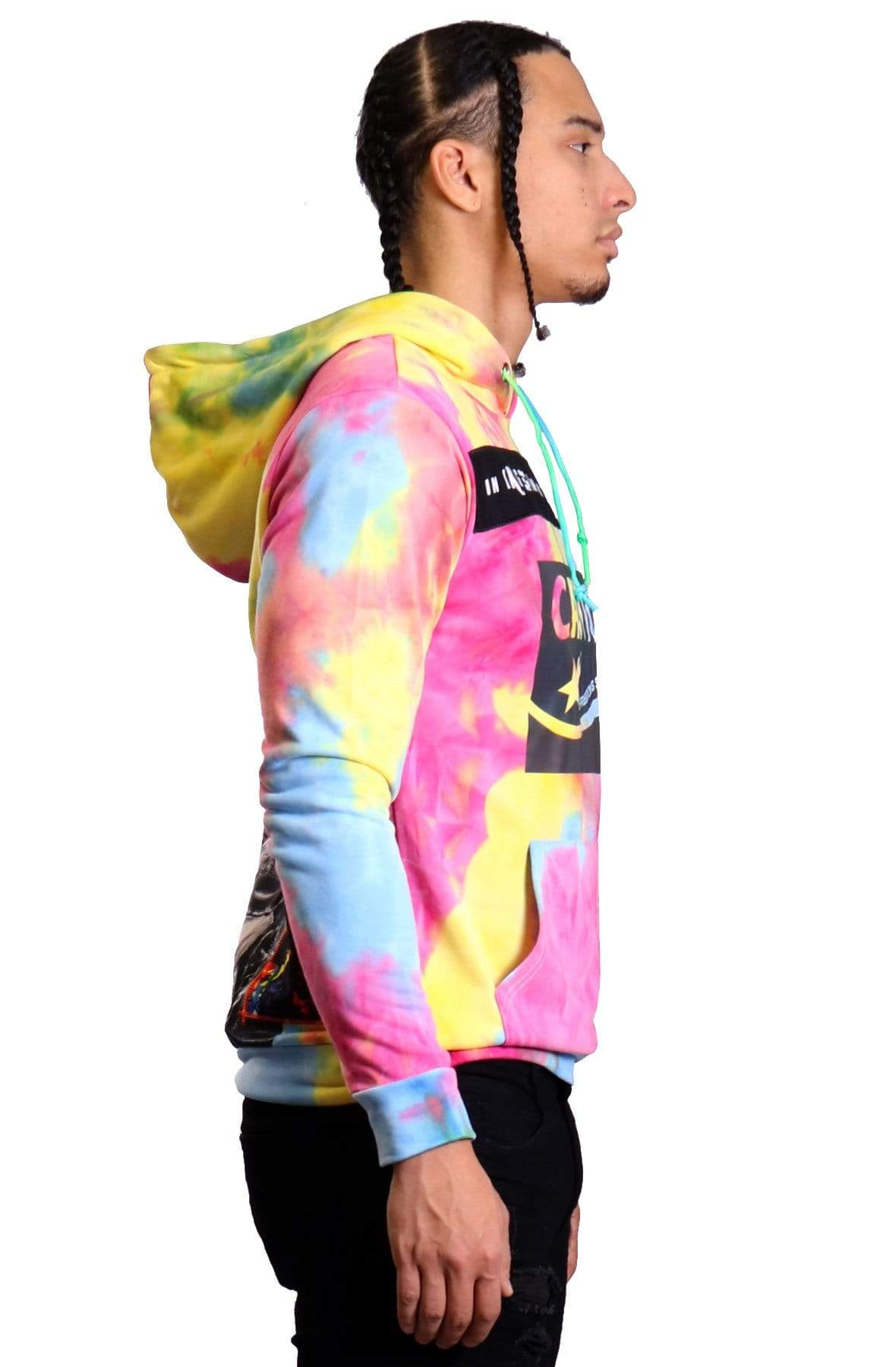 KLEEP Men's Sweatshirt Lollipop Men's Premium Tie dye Pullover Hoodie