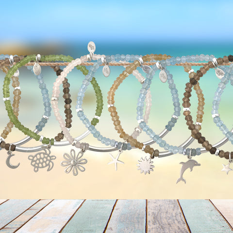 Sea inspired braceletes with charm