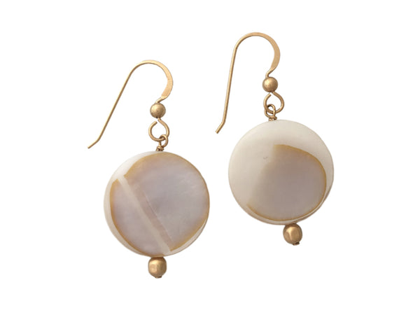 Mother of pearl and Gold Filled earrings