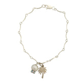 Bracelet with pearl and palm tree charm