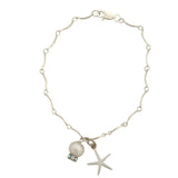 Bracelet with pearl and starfish charm