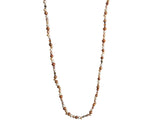 Long freshwater pearls necklace ivory and brown