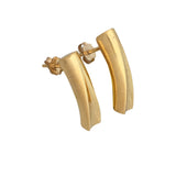 Waves long plain earrings