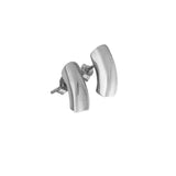 Rhodium plated short earrings