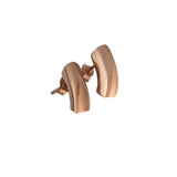 Rose gold plated short earrings