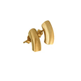 Yellow gold plated short earrings
