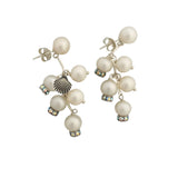 Long pearls earrings with shell charm