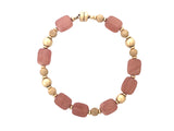 Rhodochrosite and gold-filled bracelet