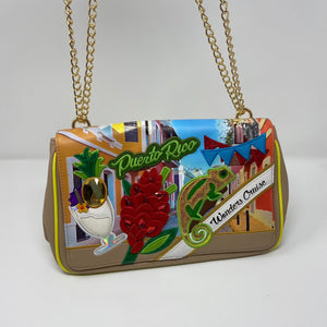 Puerto Rico Themed Shoulderbag by Italian Designer Braccialini