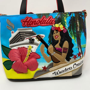 Hawaii Themed Handbag by Graziella&braccialini, Italian Designer