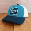 Idahomegirl Snapback Hat: Blue Teal, Birch, Navy