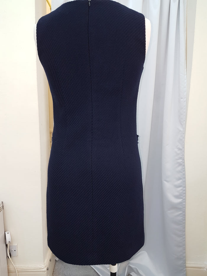 Stylish Fitted fully lined Blue Dress