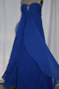 Peacock Blue Chiffon Float Dress size 12