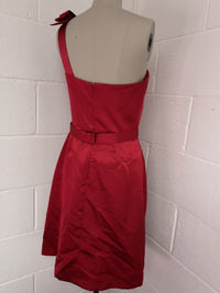 Red Satin Short Party Dress size 10
