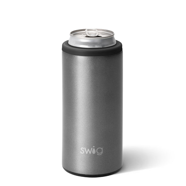 Shimmer Graphite Skinny Can Cooler (12oz)