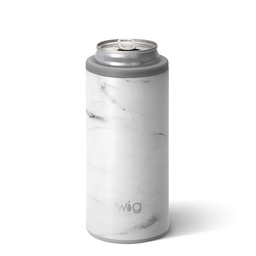 Matte Marble Skinny Can Cooler (12oz)
