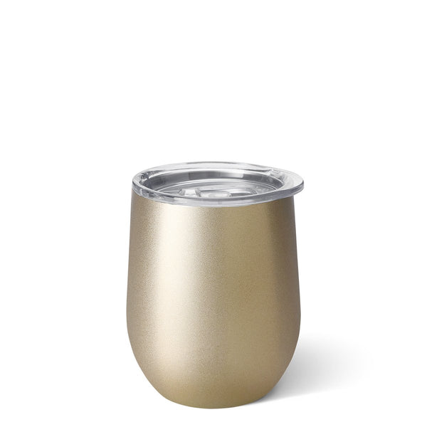 Shimmer Champagne Stemless Wine Cup (12oz)