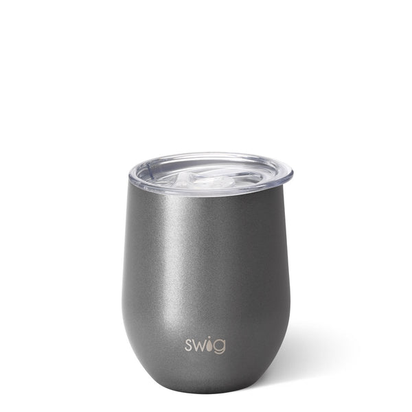 Shimmer Graphite Stemless Wine Cup (12oz)