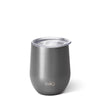 Shimmer Graphite Stemless Wine Cup (12oz) - Swig Life
