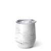 Matte Marble Stemless Wine Cup (12oz) - Swig Life
