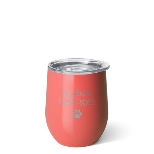 Stemless Wine Cup (12oz) - My Kids Have Paws