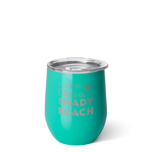 Stemless Wine Cup (12oz) - No One Likes a Shady Beach