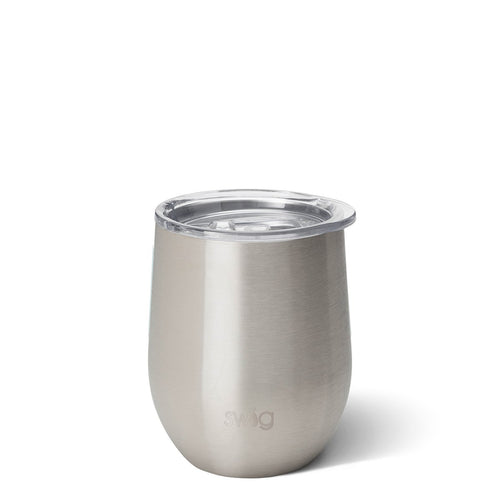 Stainless Steel Stemless Wine Cup (12oz)