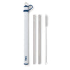 Navy Double Stainless Steel Straw Set - Swig Life