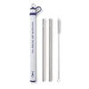 Purple Double Stainless Steel Straw Set - mermaids get thirsty too - Swig Life