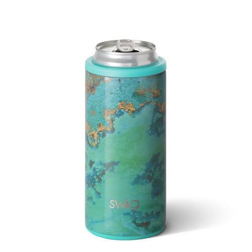 "Copper Patina Skinny Can Cooler (12oz)<br/><font color=""#ee41aa"">ETA: Aug 5</font>"