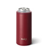 Matte Maroon Skinny Can Cooler (12oz) - Swig Life
