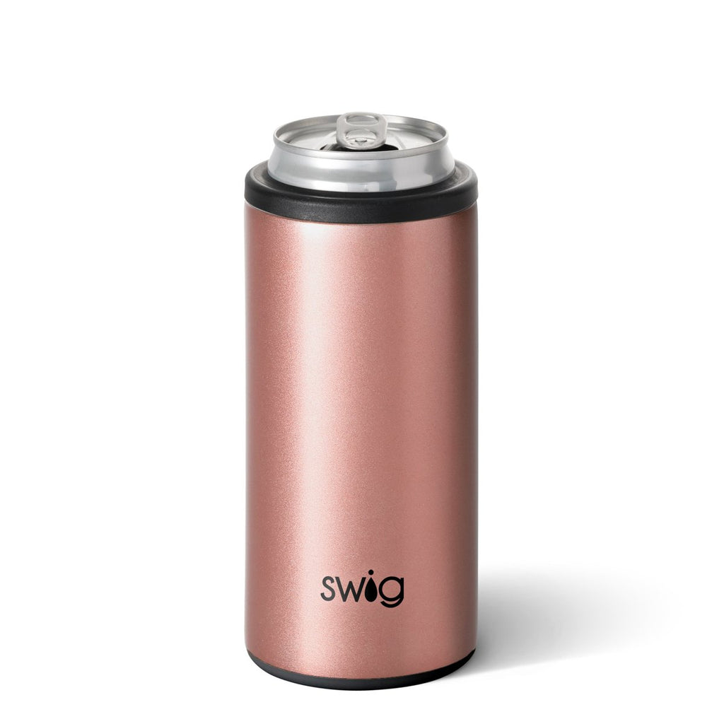 Rose gold insulated 12oz skinny can cooler