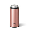 Shimmer Rose Gold Skinny Can Cooler (12oz) - Swig Life