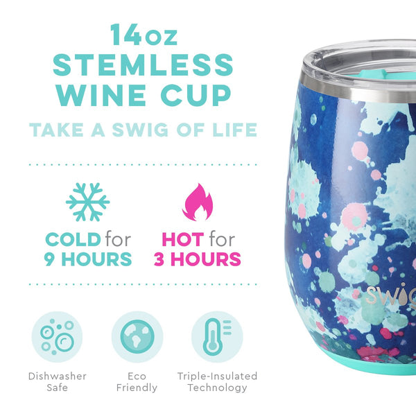 Artist Speckle Stemless Wine Cup (14oz)