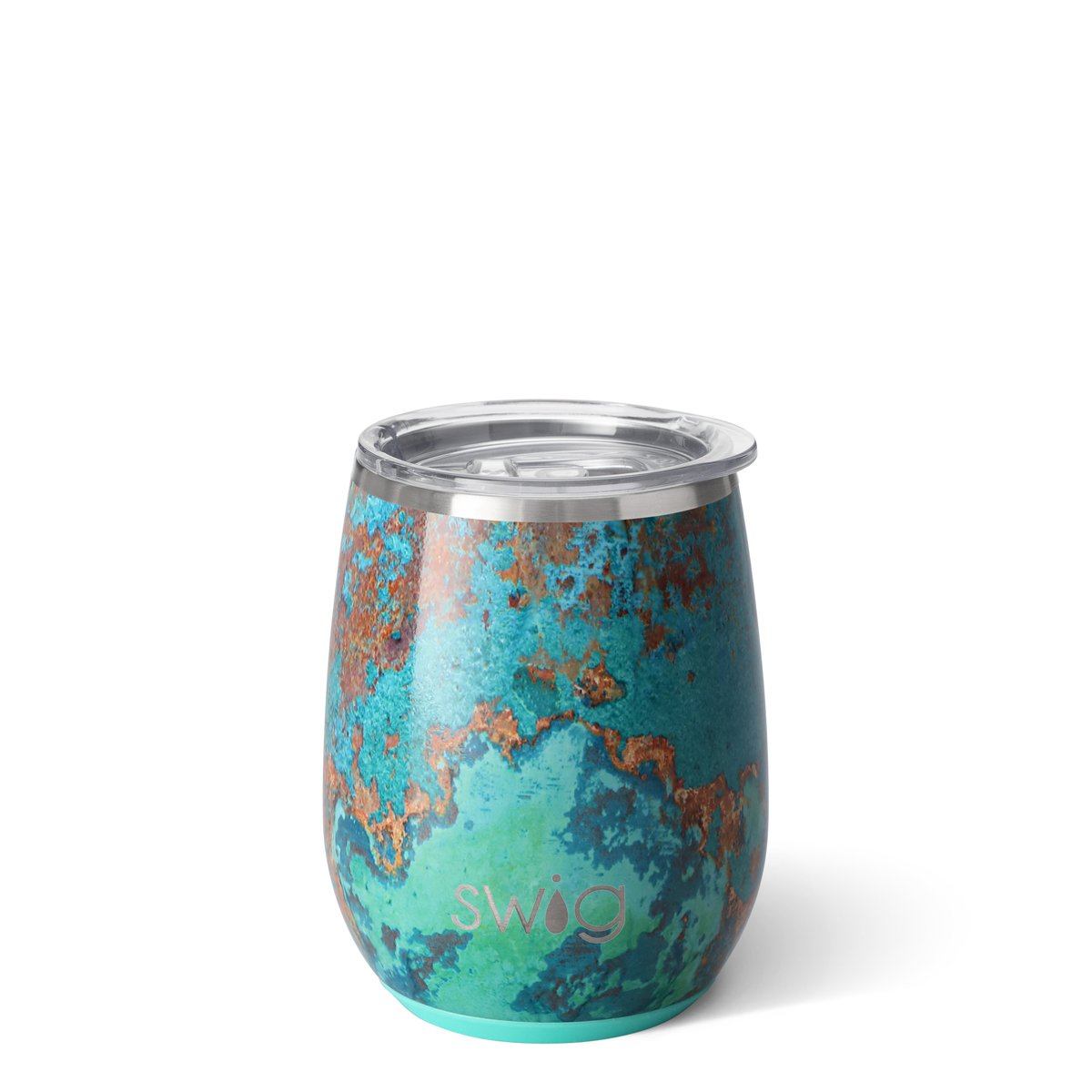 Copper Patina Stemless Wine Cup (14oz)