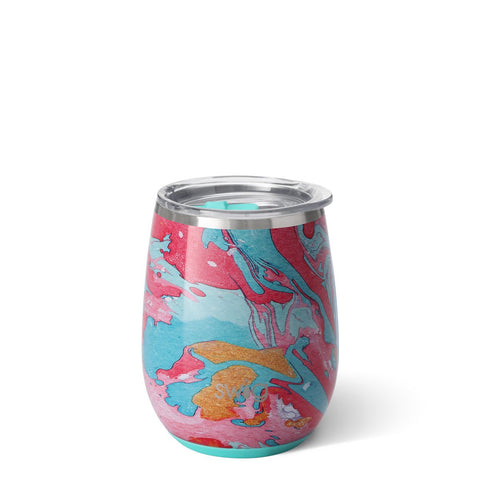 Swirled Peace Stemless Wine Cup (14oz)