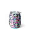 Frilly Lilly Stemless Wine Cup (14oz) - Swig Life
