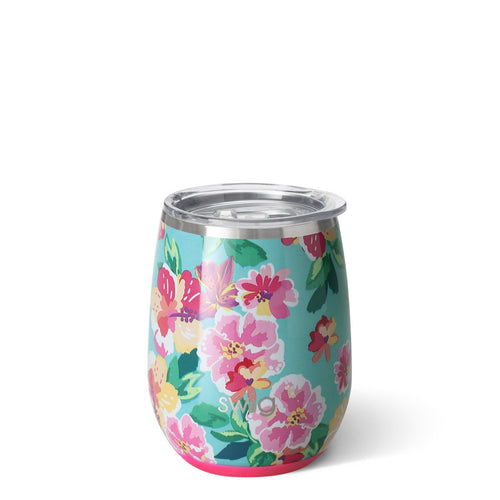 Island Bloom 14oz Stemless Wine Cup