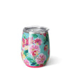 Island Bloom Stemless Wine Cup (14oz) - Swig Life