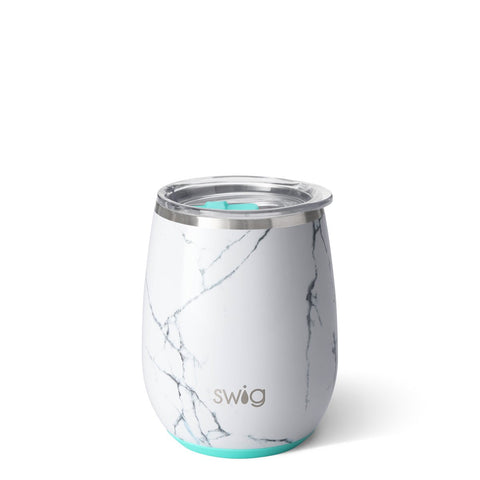 Shimmer Diamond White Stemless Wine Cup (12oz)