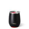 Matte Black/Red Stemless Wine Cup (14oz) - Swig Life