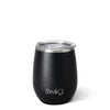 Matte Black Stemless Wine Cup (14oz) - Swig Life